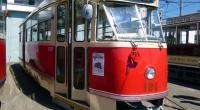 Historická Tatra T1 v Plzni na dni otevřených dveří PMDP (2014, M. Vyskočil)
