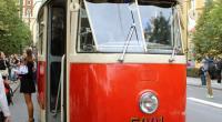 Historická Tatra T1 v Praze při oslavách 140 let MHD (20. 9. 2015, M. Vyskočil)