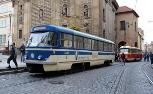 Historická Tatra T4 v Praze při oslavách 140 let MHD (20. 9. 2015, M. Vyskočil)